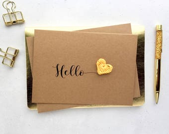 Card to say hello - Hello card - Card to say Hi - Just wanted to say card - Just because card