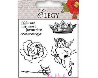 "Clear stamps ""Elegy"" 1 scrapbooking embellishment *."