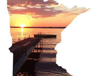 Minnesota Photography, summer sunset, 8x10 print