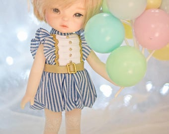 Patterns and English Instructions of Balloon dress for 20 cm doll,Middie Blythe, Lati Yellow, BJD1/8