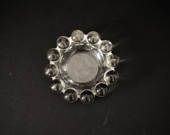 Clear Heavy Glass Vintage Ash Tray