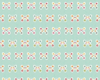 extra15 30% OFF Riley Blake Designs Garden Girl by Zoe Pearn - Butterfly Mint