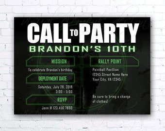 Call of duty party Etsy