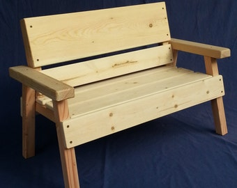 DIY Project, Unfinished Kids Solid Wood Bench, Toddler+ Boy Or Girl, Childrens  Furniture