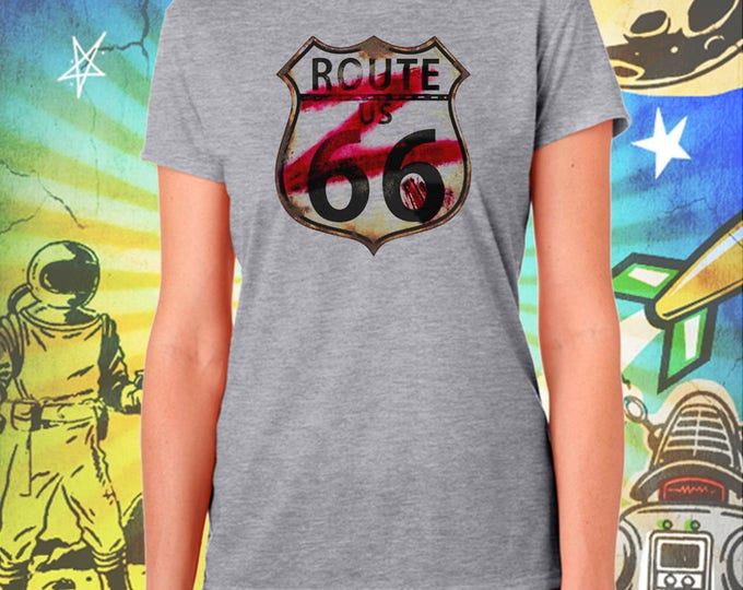 ZNATION / Route 66 Z-Shield / Women's Zombie Gray Performance T-Shirt