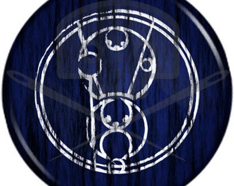 Doctor Who- Inspired BAD WOLF in Gallifreyan button