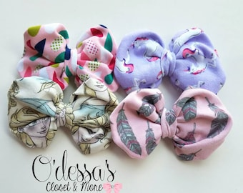 Azia Style Knit Baby Toddler Bow, Toddler Knit Bow, Infant Knit Bow, Girls Bow, Cotton Knit Bow, Knit Headband Bow, Toddler Headband Bow