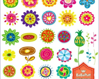 Instant Downloads, Flowers Clip Art. For Your Handmade Crafts Projects. Personal and Small Commercial Use. BP 0281