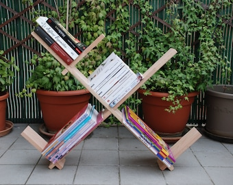 Minimal shelf - library - adjustable - geometric - table bed or Chair - lay or hang