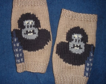 Sale - King Kong gorilla/monkey/ape fingerless gloves