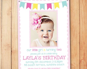 Fairy Floss Kids Birthday Invitation