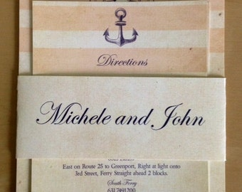 Nautical-themed Rustic Wedding Invitations