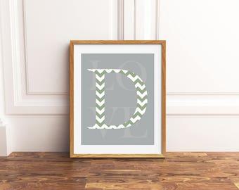 Baby boy nursery wall art, monogram baby wall art, monogram nursery art, baby name wall art, new mom gift, baby shower gift, baptism gift