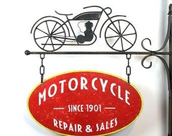 Vintage Motorcycle sign