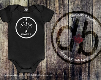 Funny Baby Shower gift, Funny Baby Bodysuit Diaper Full Gauge Shirt, Take Home Hospital. Baby Shower Gift, Motorcycle Baby Boy Bodysuit