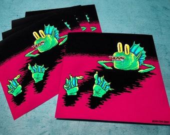 Swamp Creature Chillin' Print