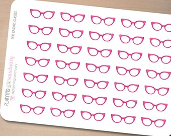 Pink Reading Glasses | Study Reminder Planner Stickers Perfect for Erin Condren, Kikki K, Filofax and all other Planners