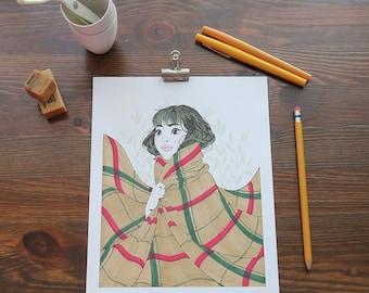 Original Marker Illustration - Bundle Up ORIGINAL