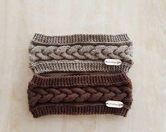 Knitting headband/ knitting ear warmer/ cozy headband/ handmade headband/ cable headband/ womens gift