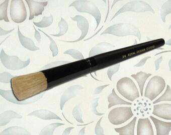 "Wall Stencil Brush 3/4"" for Allover Wall Stencils Easy Wall Stencil Techniques and Perfect Stenciling"