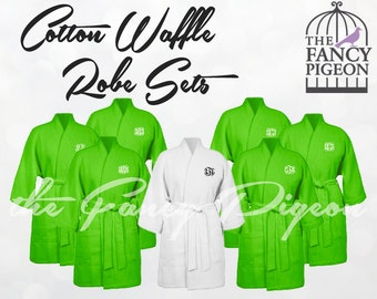 LIME COTTON ROBES - Spa Robes - Bride Robe - Bridal Party Robes - Bridesmaids Robes - Wedding Robes - Personalized Robes - Bridal Robes