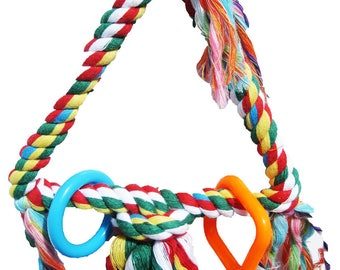 1325 Tiny Rope Triangle Bird Toy
