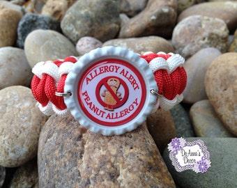 Peanut Allergy paracord bracelet