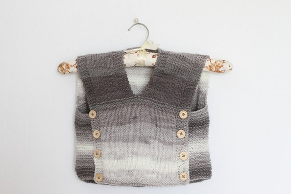 Baby Sweater Vest Knitting Pattern Pdf Easy Baby Vests