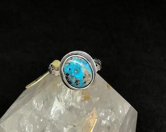 Turquoise stacking rings , turquoise ring , sterling silver with turquoise ring , small ring , size 5 1/4 turquoise ring