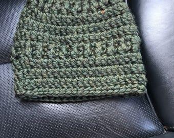 Olive Green Wool Winter Hat