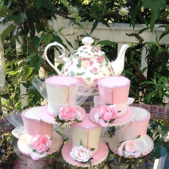 Tea Party Table Decoration Ideas: Mother's Day Tea Party Decorations Set Of 5 Felt Top