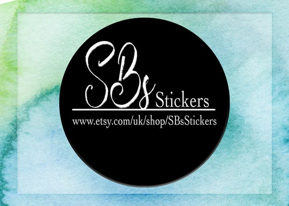 Round business logo sticker simple black and white logo monotone sticker custom business sticker own logo sticker your own logo label from sbsstickers