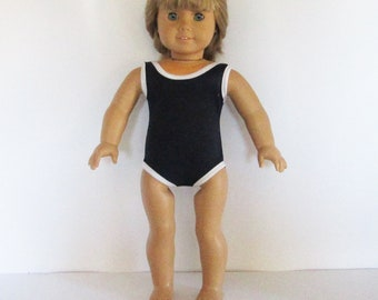 One Piece Swim Suit for American Girl Doll  18 Inch Doll Clothes