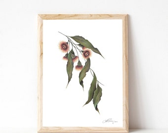 """A3 Gum Tree Branch """"Blossoming Love"""""""