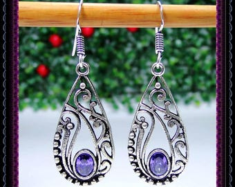 Quartz Amethyst Earrings
