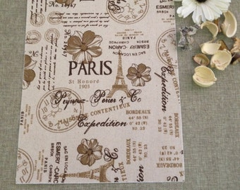 vintage style adhesive fabric