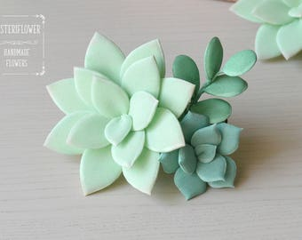 Succulent Hair clip Rustic wedding Succulent Plants Flower hair clip Succulent Jewelry Wedding hair accessories Birthday Gifts Hair barrette