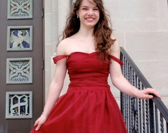 Sweetheart Prom Dress w/ Gathered Bodice, Sweetheart Formal Gown, Modest Prom Dress -- CUSTOM MADE in any fabric