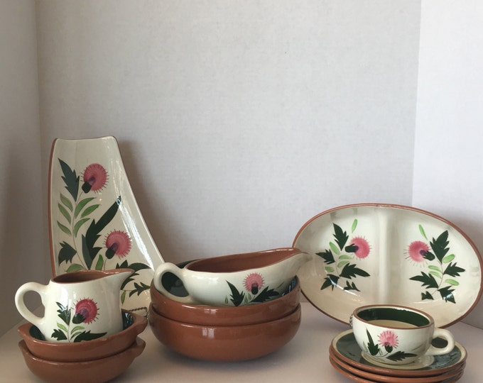 Stangl Pottery Thistle 11 piece set