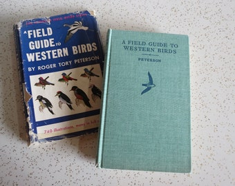 A Field Guide To Western Birds, a Peterson Field Guide, Vintage 1940's Hardcover