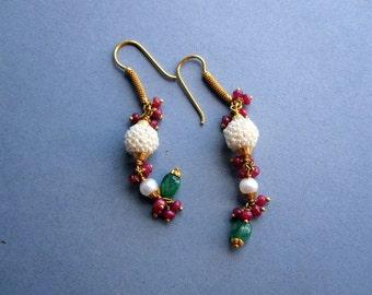 Nizam India Gold Earrings.
