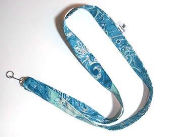 Swirly Blue Lanyard
