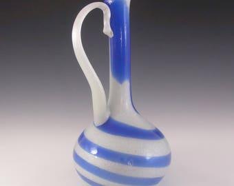 RARE Large Murano Pulegoso Glass Jug/Pitcher/Vase