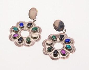 Multi Gemstone Navajo Earrings - 70s Posts - Best Buy