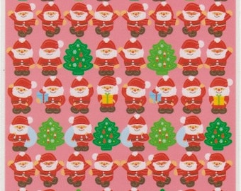 Santa Stickers - Christmas Stickers - Kawaii Japanese Stickers - Reference A5075-76C5124-25C5238-40