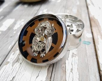 Steampunk Owl General Grinder Spice Crusher