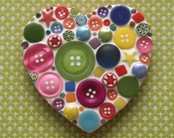 Fun Lily Mosaics D.I.Y. Mosaic Multicoloured Heart Kit for adults and children