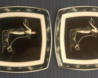 Italian Ceramics Company I.C.C. Wild Cats Plate (Made in Italy)