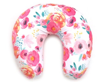 Nursing Pillow Cover Indy Bloom White. Nursing Pillow. Nursing Pillow Cover. Floral Nursing Pillow Cover.