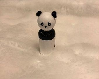 Panda peg doll